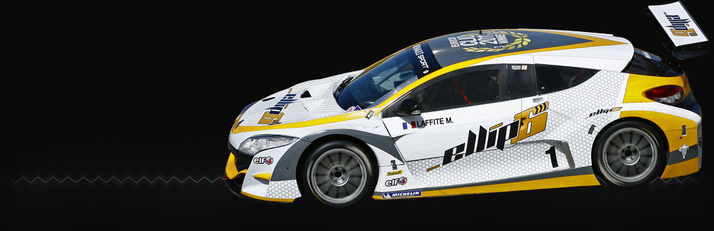 The Margot Laffite's « Mégane trophy » with the ellip6's colours for the « World Series by Renault » (photo)